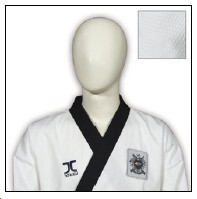 TKD Uniform JCalicu Black Collar Fighter