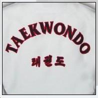 TKD Uniform Kyorugi Traditional Twil mit Rückenbestickung