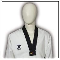 TKD Uniform JCalicu Club gerippt mit schwarzem Revers