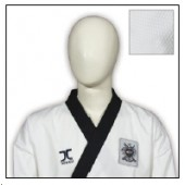 TKD Uniform JCalicu Black Collar Fighter